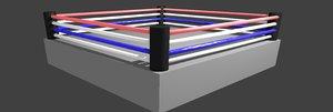 3D boxing ring model