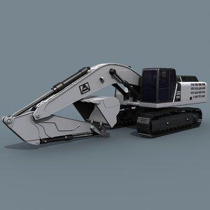 3D excavator - vehicle animation