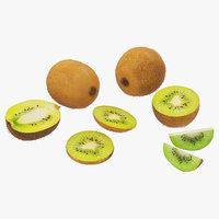 kiwi fruits 3D model