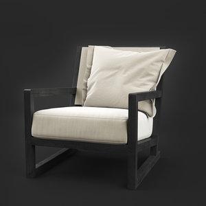clio armchair b italia 3D