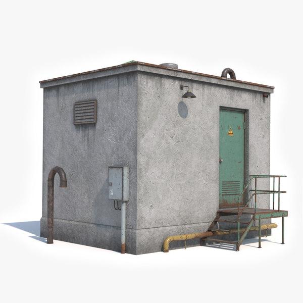rooftop exit pbr model