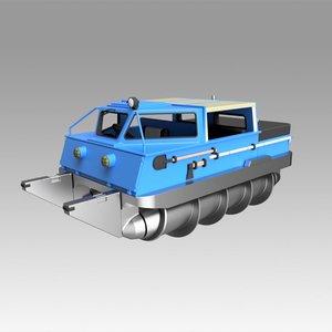 screw terrain vehicle 3D model