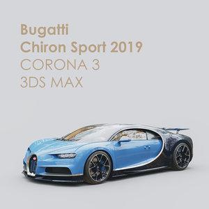 sport chiron bugatti 3D model