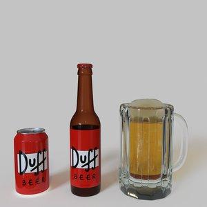 3D duff beer bottle