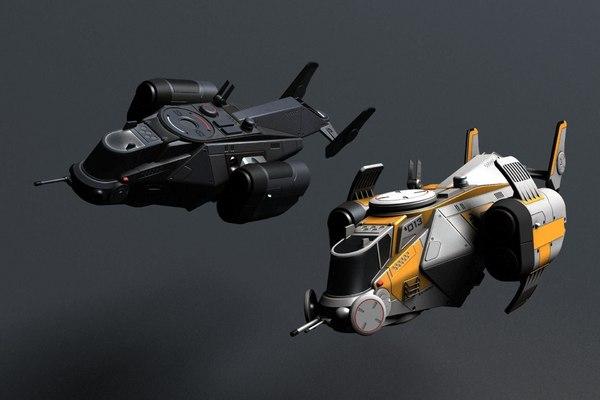 3D ship man sky