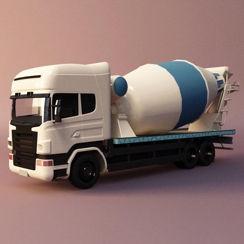 3D tanker cement