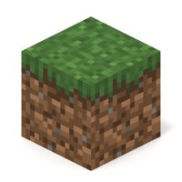 3D model minecraft grass block