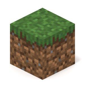 3D model minecraft grass block
