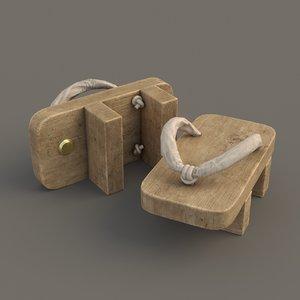 3D model traditional pbr nonpbr geta