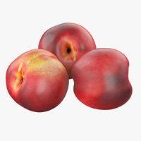 3D peach nectarine model