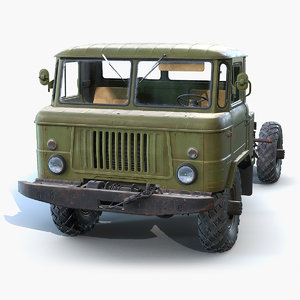 soviet truck gaz-66 3D model