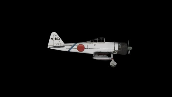 3D japanese world war aircraft model