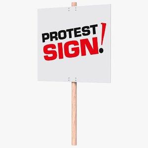 protest sign 3D model