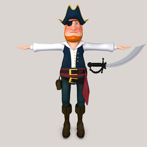 3D cartoon pirate