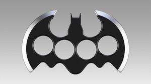 3D batarang brass knuckles