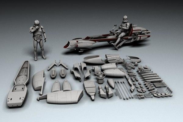 barc speeder printing 3D model