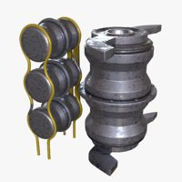 3D model pressure tanks engine