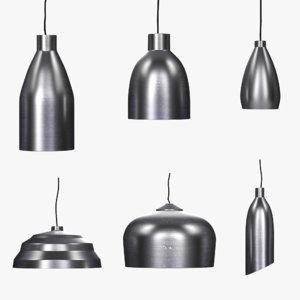 industrial set aluminium hanging lamp model
