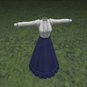 3D fitting dress