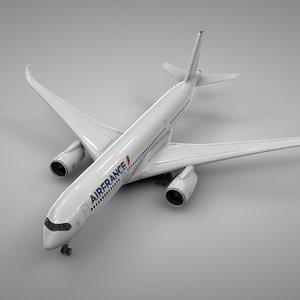 3D airbus a350-900 air france model