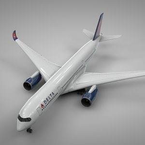 airbus a350-900 delta airlines model
