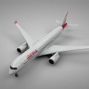 3D airbus a350-900 iberia l221