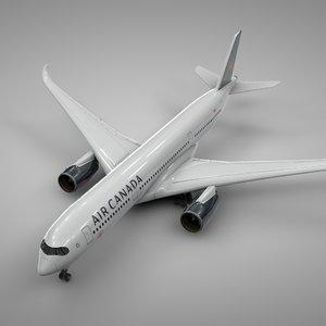 airbus a350-900 air canada 3D model