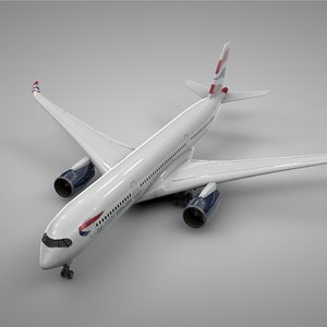 airbus a350-900 british airways 3D model