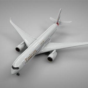 airbus a350-900 emirates l219 3D