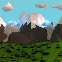 Magical Low Poly Landscape