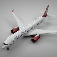 airbus a350-900 virgin atlantic 3D model