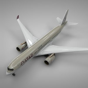 airbus a350-900 qatar airways 3D model