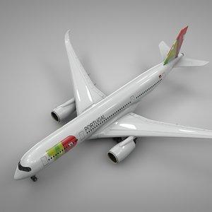 3D model airbus a350-900 tap l228