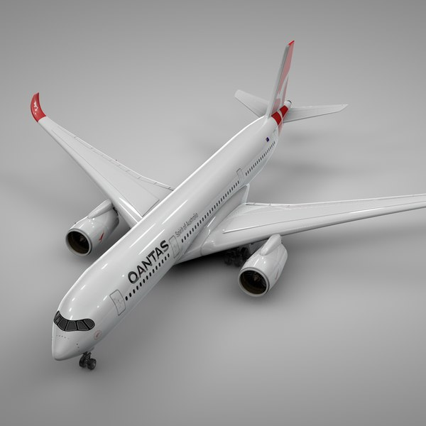 airbus a350-900 qantas airways 3D model