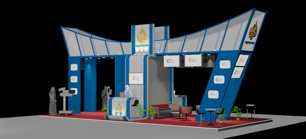 3D exhibition booth 6x12 model