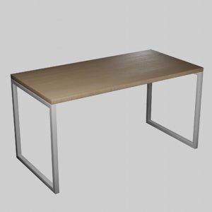 3D modern wooden table