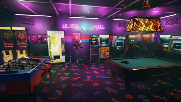 arcade video hall 80 3D