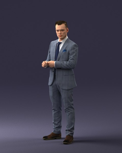 scanned businessman 3D model