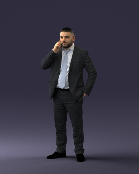 scanned businessman model