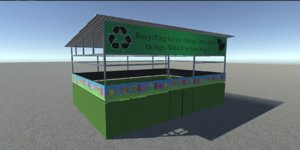 3D recycling boxes multiple model