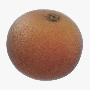 pink grapefruit 3D model