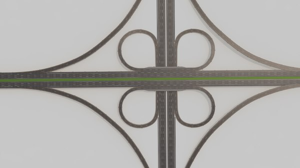 highway intersection 3D model