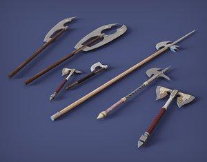 medieval axes 3D