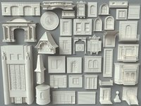 Building Facade Collection 6 - 40 piece