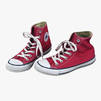 3D converse shoes scanned model