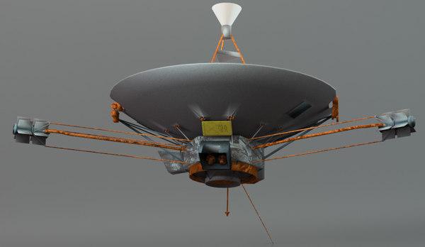 pioneer space probe 3d obj