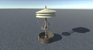 3D leonardo da vinci helicopter