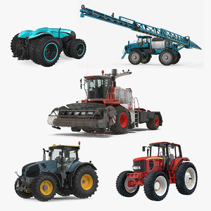 farm vehicles 3 3D model