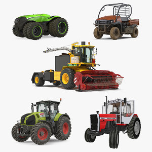 rigged farm vehicles model