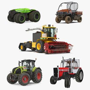 rigged farm vehicles model